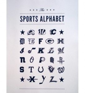 Presenting The Sports Alphabet Poster