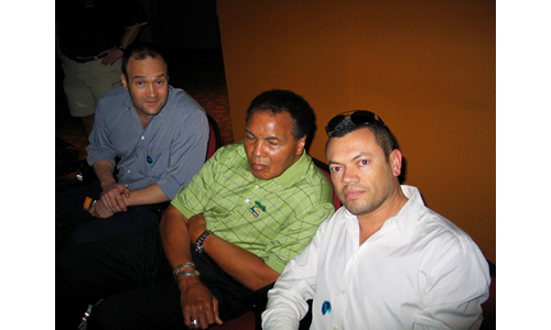 Gregory Gross, Muhammad Ail and Rafael Esquer