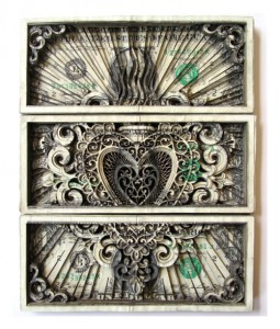 Scott Campbell : Carved Currency Sculptu...