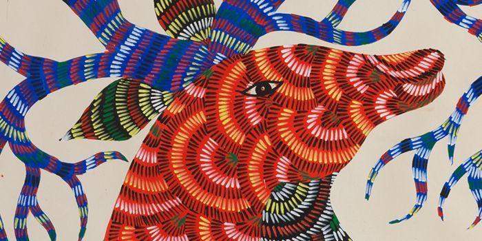 Indian Contemporary Art by Jangarh Singh Shyam - Alfalfa Studio
