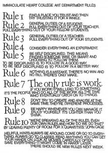 Sister Corita Kent's 10 Rules for Studen...