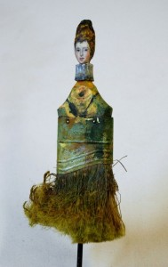 Discarded Paintbrush Portraits by Rebecc...