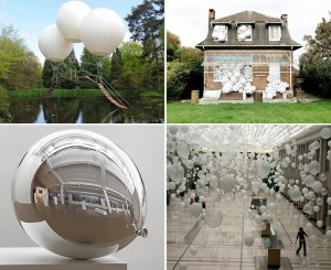 Seven White Balloons in Art and Design
