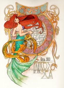 Art Nouveau Geeky Illustrations