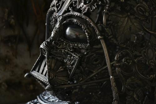 alain bellino sculptures metal steampunk star wars dark vader