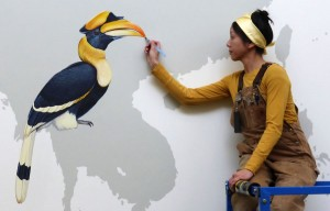 The 2,800-square-foot Wall of Birds