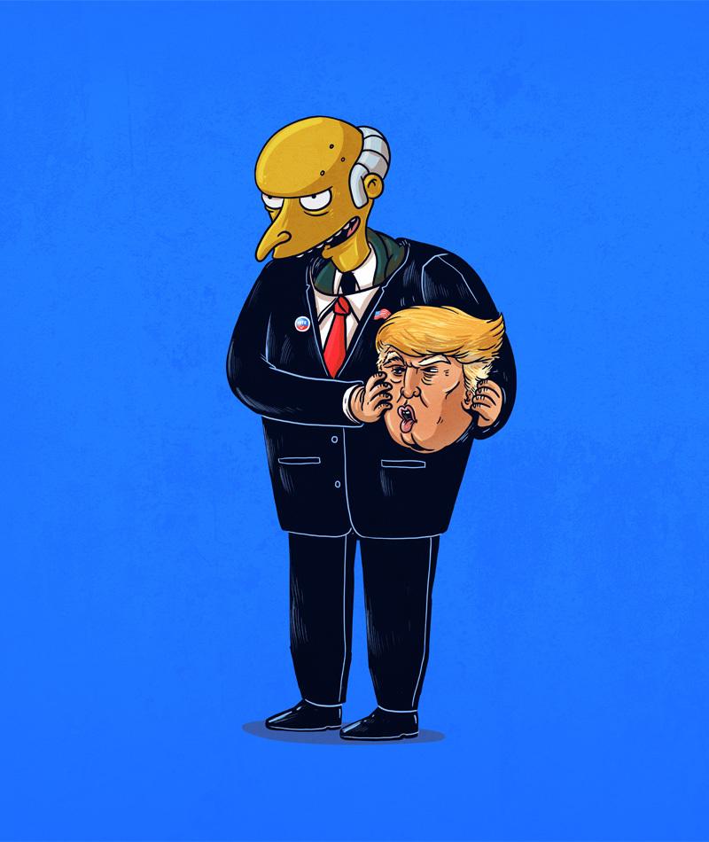 unmasked cartoon characters by alex solis alfalfa studio