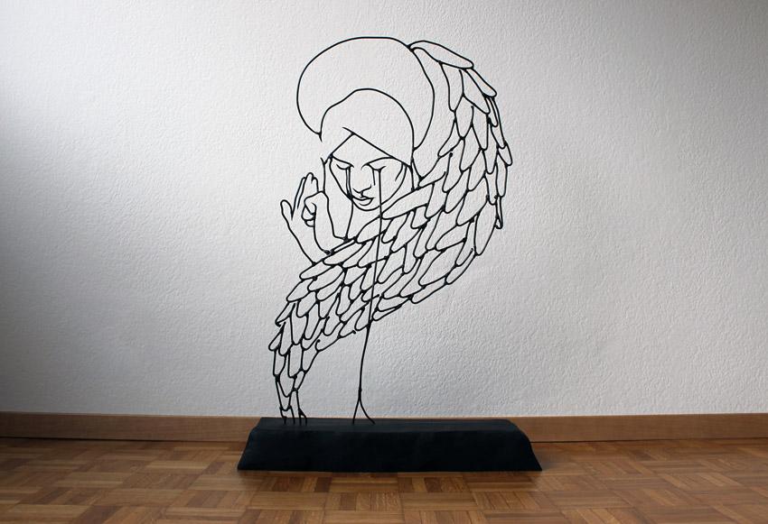 Gavin Worth\'s Engaging Wire Sculptures - Alfalfa Studio