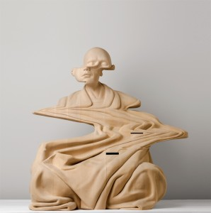 Wooden Digital Glitches by Paul Kaptein
