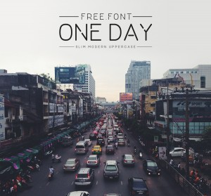 Sunday's Free Font: One Day