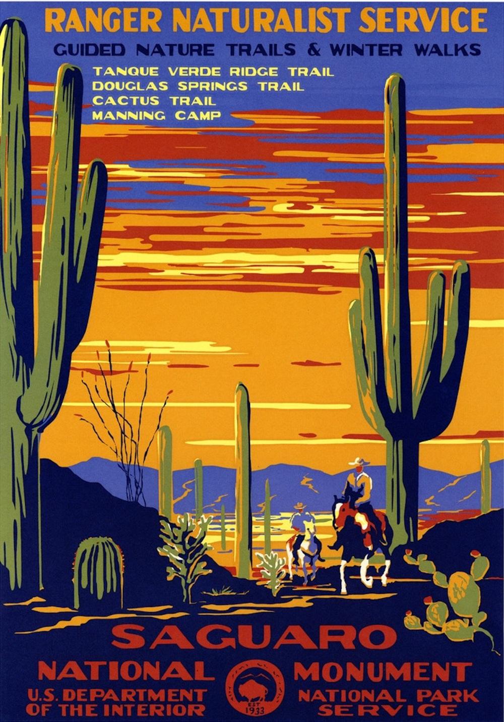 Vintage National Parks Posters Happy 100th Birthday Alfalfa Studio