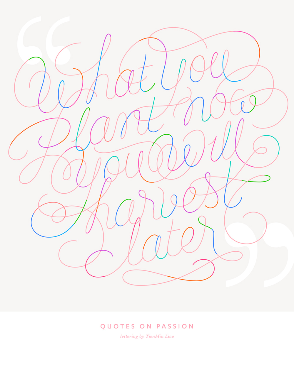 typographic quotes on design passion by tienmin liao alfalfa