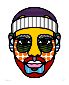 Pop Art Faces of Craig and Karl