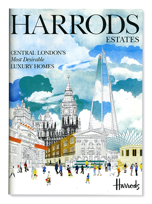 London Illustration Water Color Harrods Magazine Editorial