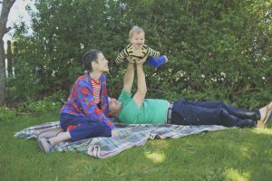 Phil Elverum, his wife, and their son