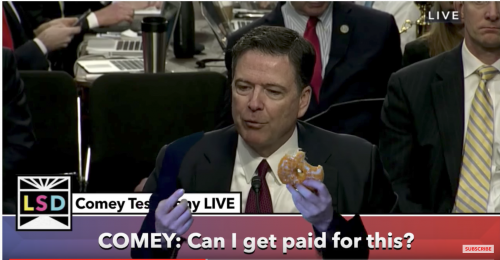 James Comey Donut Trump Politics Super Deluxe