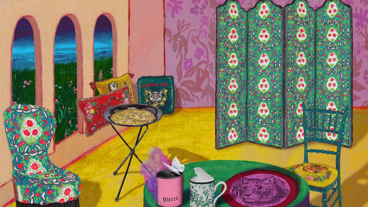 826960d528cdd Design Inspiration: Gucci's Wall Papers - Alfalfa Studio