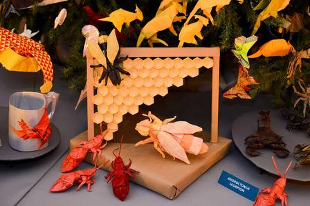 Origami from the 2013 tree © 2017 American Museum of Natural History