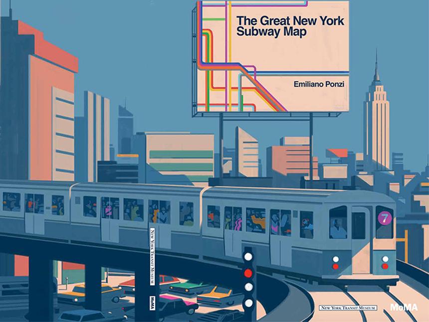 Nyc Subway Map Author Emiliano Ponzi.The Great New York Subway Map By Emiliano Ponzi And Moma