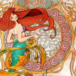 Art Nouveau Geeky Illustrations