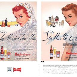 Budweiser updates its vintage ads